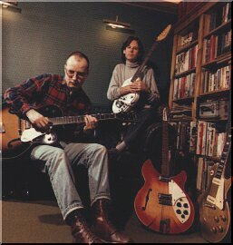 with Andy Partridge and Vox guitar
